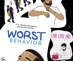 Drake, take care, and bday card image