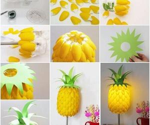 diy, pineapple, and lamp image