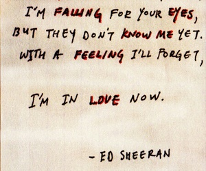 ed sheeran, love, and Lyrics image