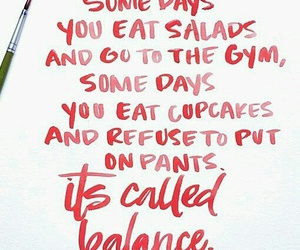 quotes, balance, and gym image
