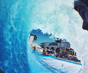 blue, waves, and fun image