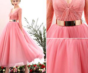 dress, wedding, and blushing pink image