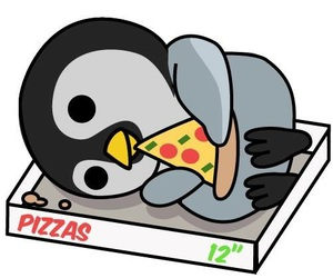 pizza, penguin, and food image