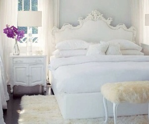 pink, bed, and rooms image