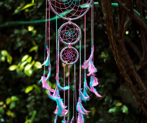 blue, dreamcatcher, and dreaming image