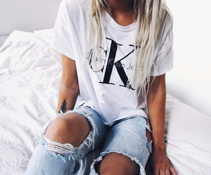 Calvin Klein and jeans image