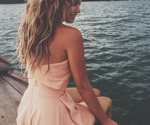 summer, blue, and dress image