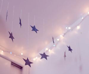 stars, light, and purple image