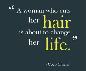 hair, quote, and life image