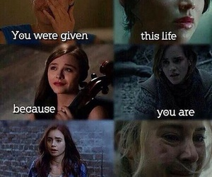 divergent, harry potter, and if i stay image
