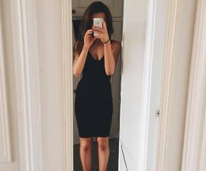 black dress, outfit, and weronika zalazinska image