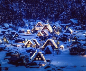 snow, winter, and japan image
