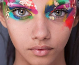 eyes, model, and makeup image