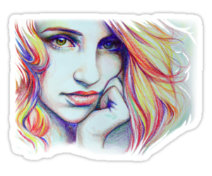 art, dianna agron, and drawing image
