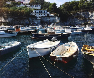 beach, boats, and place image