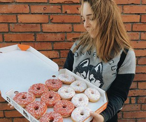 adorable, donuts, and food image