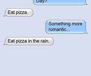 pizza, romantic, and funny image