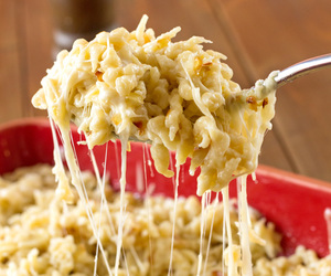 cheese, homemade, and spaetzle image