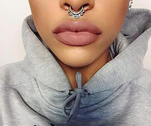 lips, piercing, and beauty image