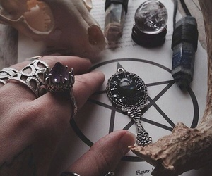 crystals, witch, and pentacle image