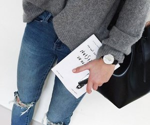 fashion, book, and outfit image