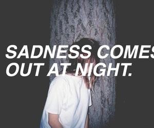 sadness, night, and sad image