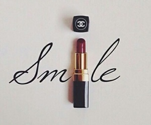 chanel, smile, and lipstick image