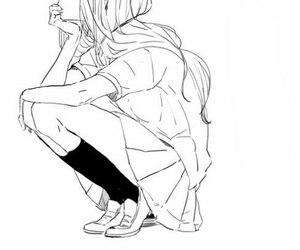 manga, girl, and anime image