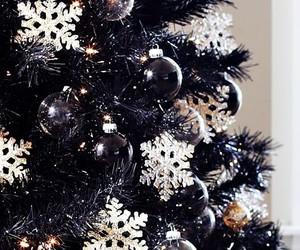 black, christmas, and decor image