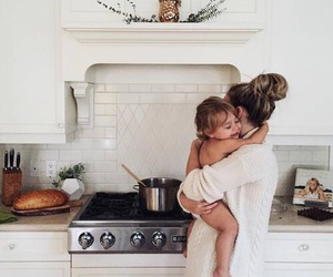 family, baby, and mom image