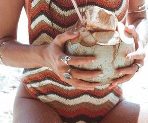 beach, fashion, and sand image