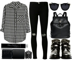 black, clothes, and rock image