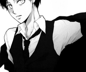 beautiful, monochrome, and snk image