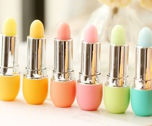 lipstick, makeup, and pastel image