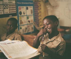 learning, school, and african children image