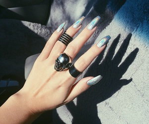 nails, rings, and skull image