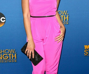 pink jumpsuit and jordin sparks image