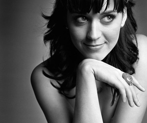 beautiful, black and white, and katy perry image