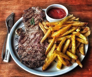 food, meat, and delicious image