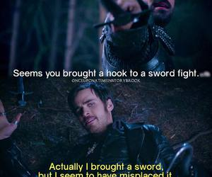 king arthur, once upon a time, and captain hook image