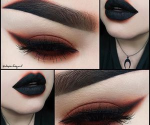 makeup, black, and goth image
