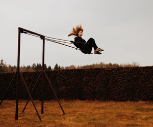 girl and swing image