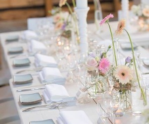 decoration, flowers, and table image