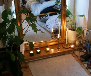 home, decor, and mirror image