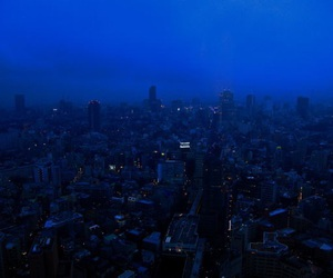 city, blue, and grunge image