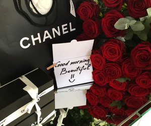 chanel, rose, and luxury image