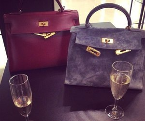 bag, luxury, and champagne image