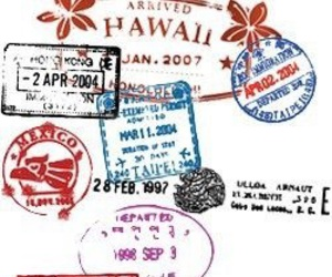 travel and stamp image