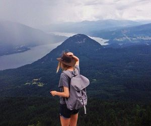 travel, girl, and mountains image