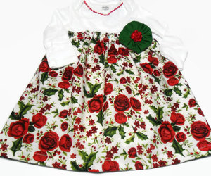 christmas, etsy, and floral dress image